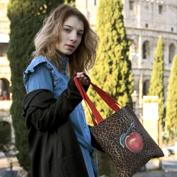 Animalier Bag with Picture Painted