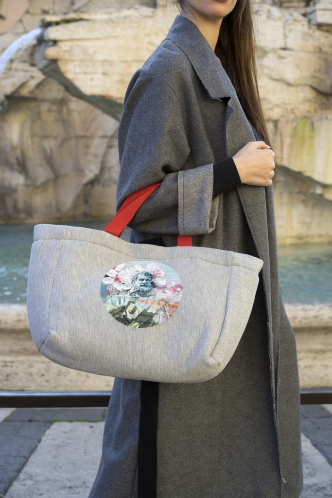 Gray Bag with St. Peter Picture Printed